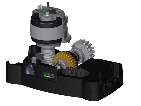 Brushless 36v dc up to 1600 kg with mechanical limit for 50 kg thrust brushless motor